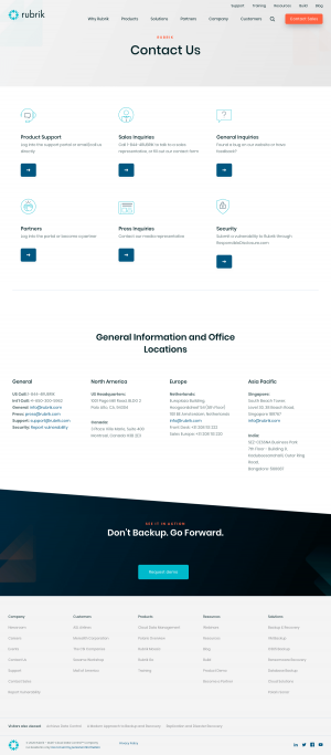Rubrik – Contact page