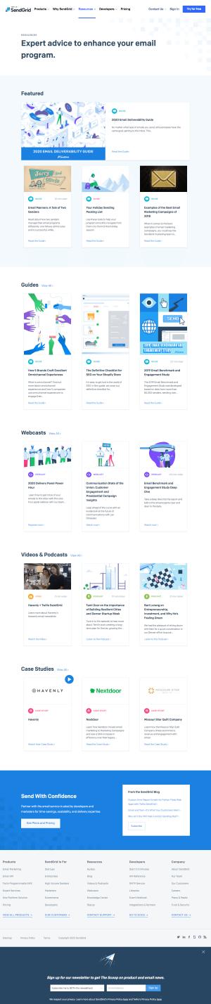 SendGrid – Resources page 1