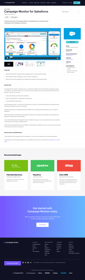 Campaign Monitor – Integrations page 2