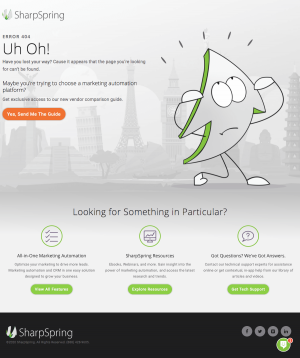 SharpSpring – 404 Error page