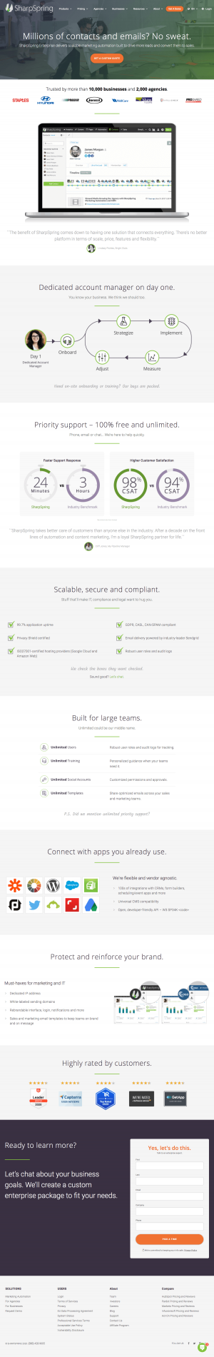 SharpSpring – Pricing page 2