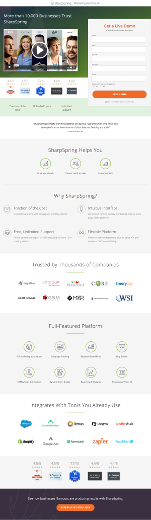 SharpSpring – Request a demo