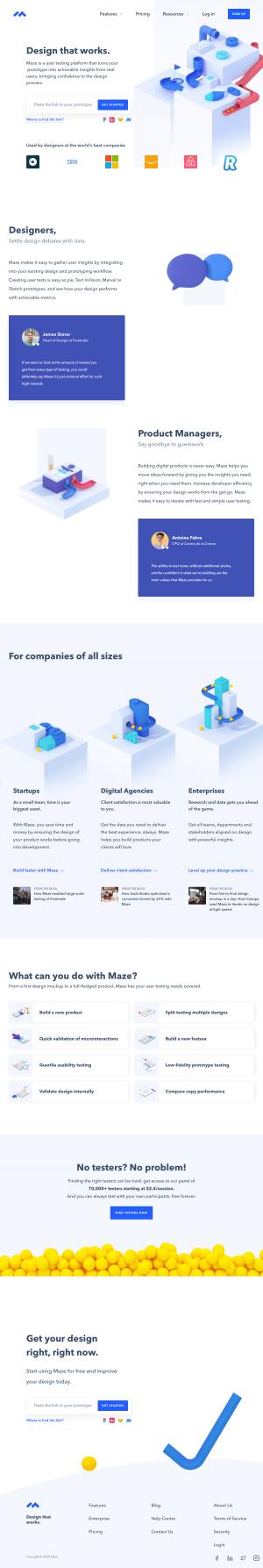 Maze – Homepage