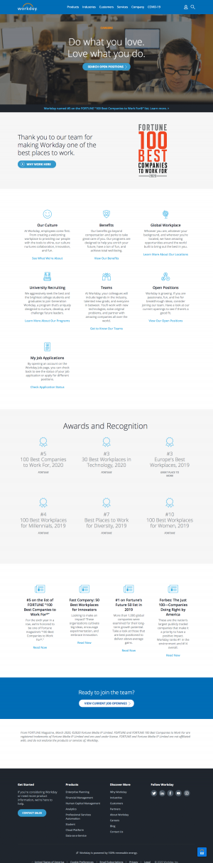 Workday – Career page 1