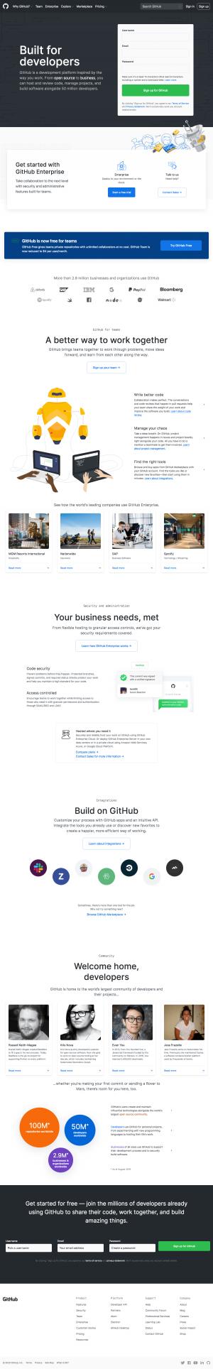 GitHub - Homepage