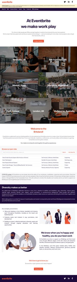 Eventbrite – Career page 1
