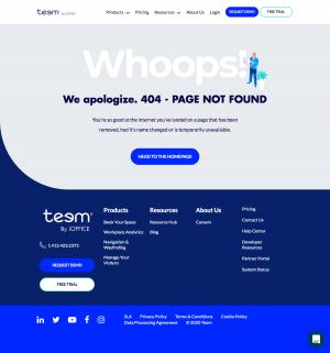 Teem – 404 Error page