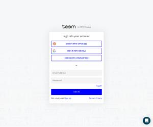 Teem – Login page