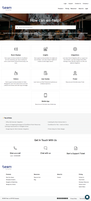 Teem – Support page