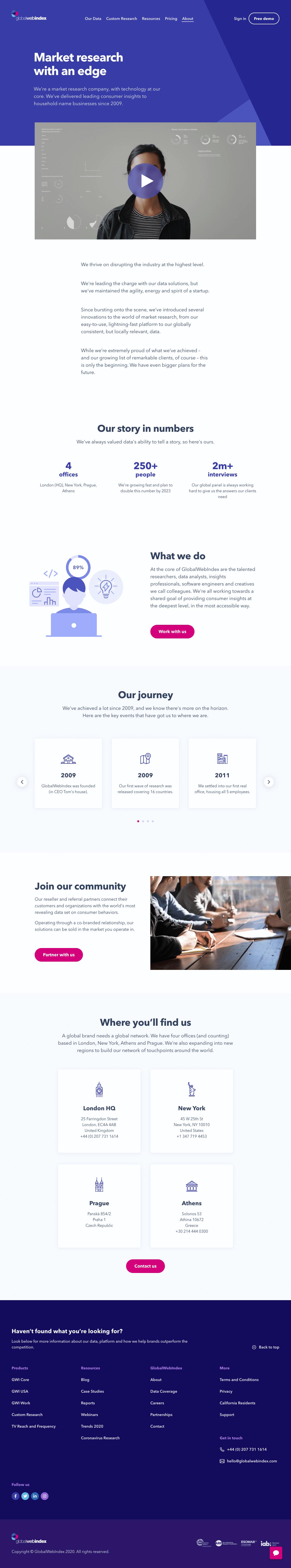 GlobalWebIndex – About Us page