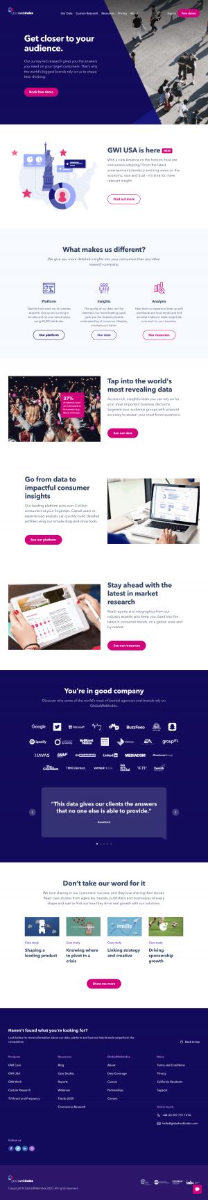 GlobalWebIndex – Homepage