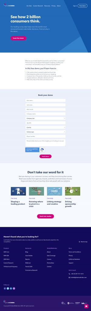 GlobalWebIndex – Request a demo