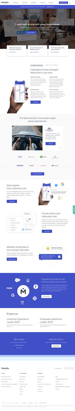 Medallia – Homepage