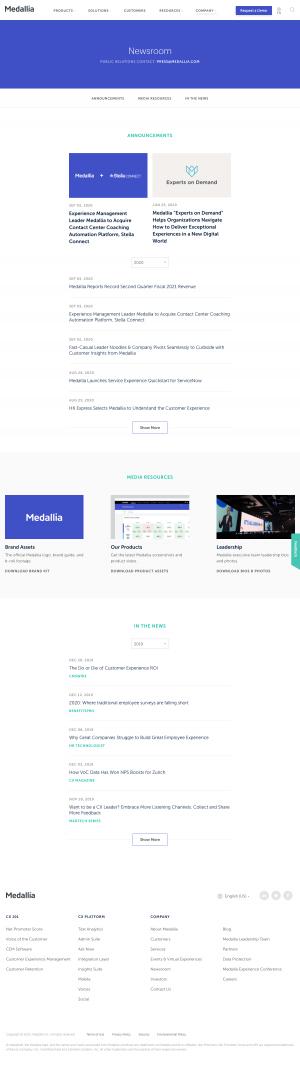 Medallia – Newsroom