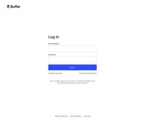 Buffer – Login page
