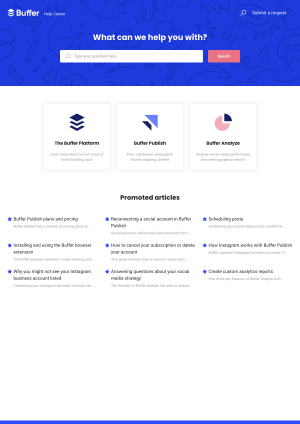 Buffer – Support page