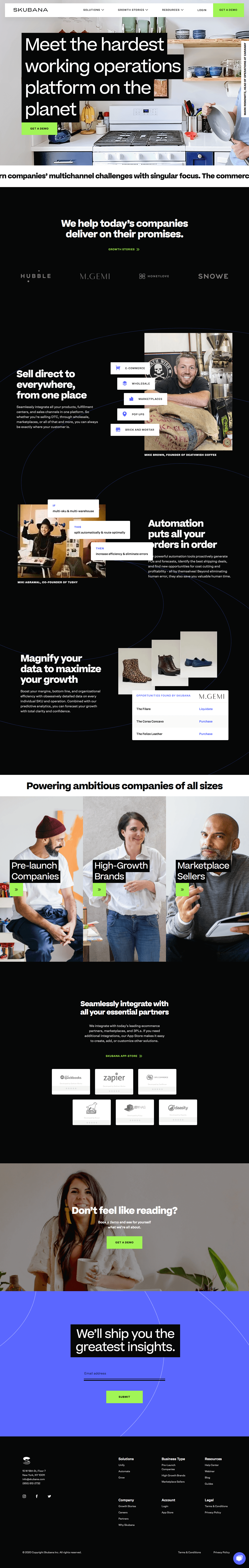 Skubana – Homepage