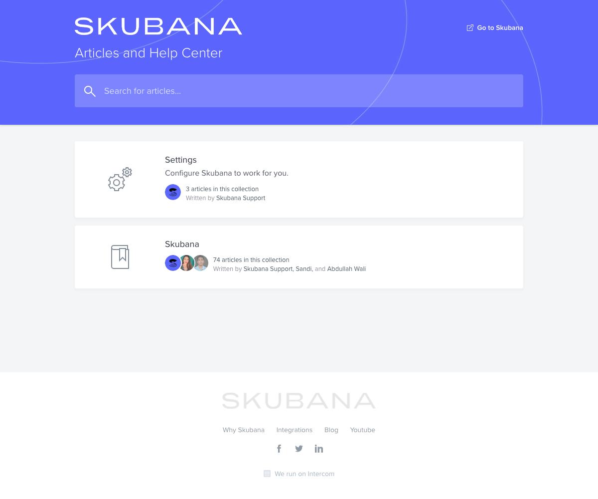 Skubana – Support page