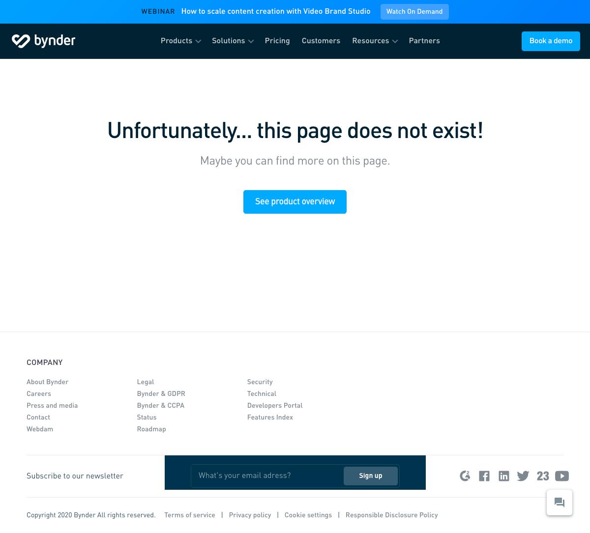 Bynder – 404 Error page
