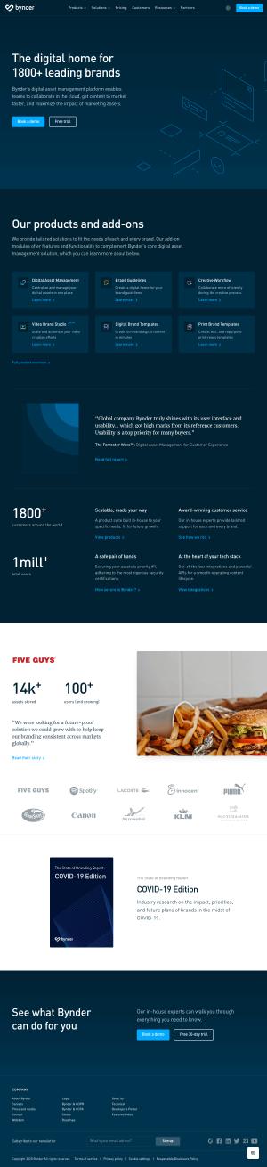 Bynder – Homepage