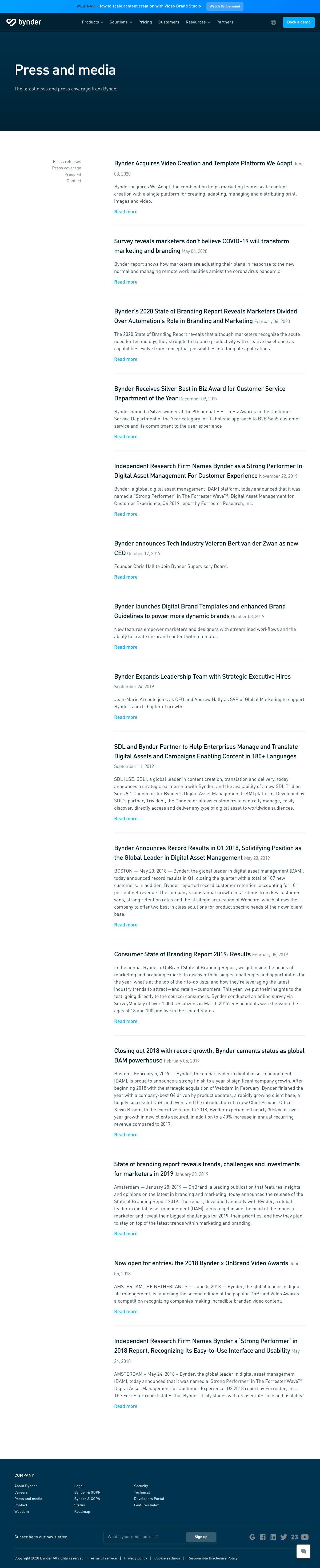 Bynder – Newsroom