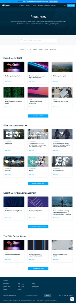Bynder – Resources page
