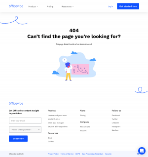 Officevibe – 404 Error page