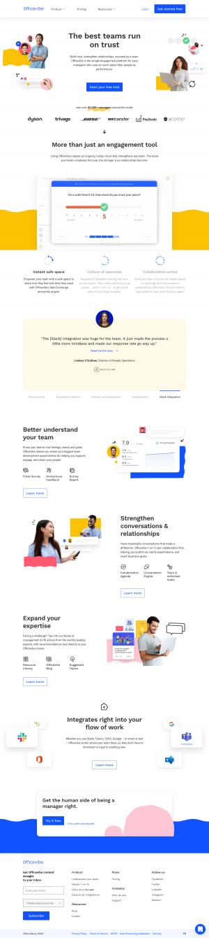 Officevibe – Homepage