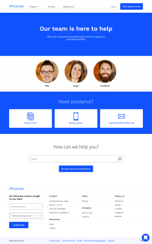 Officevibe – Support page
