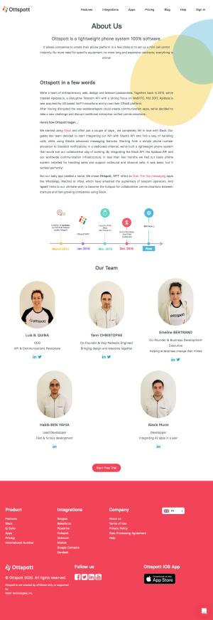 Ottspott – About Us page