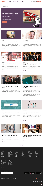 Maple – Newsroom page