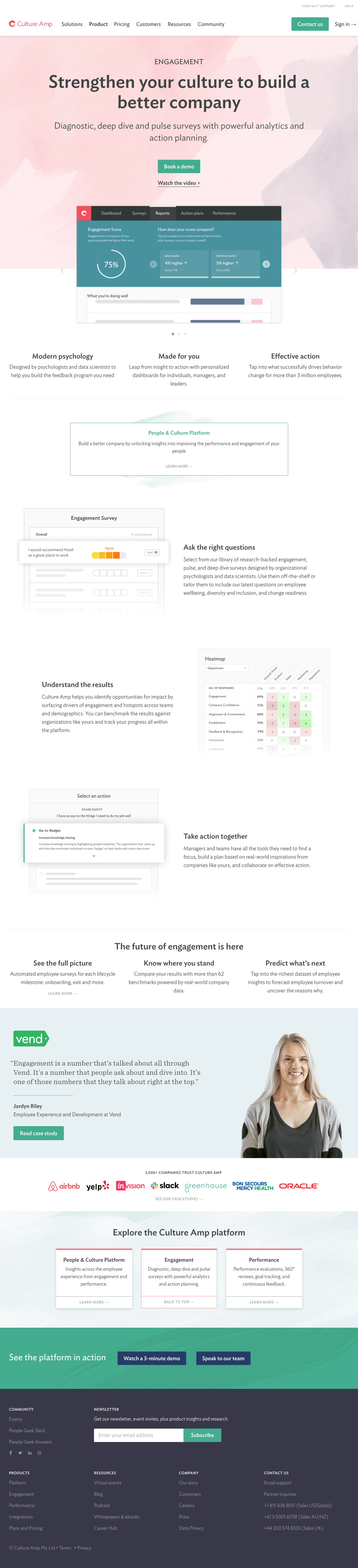 Culture Amp – Features page