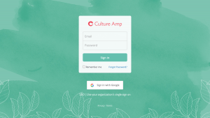 Culture Amp – Login page