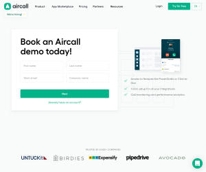 Aircall – Request a demo