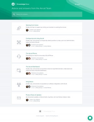 Aircall – Support page