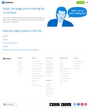 FreshBooks – 404 Error page
