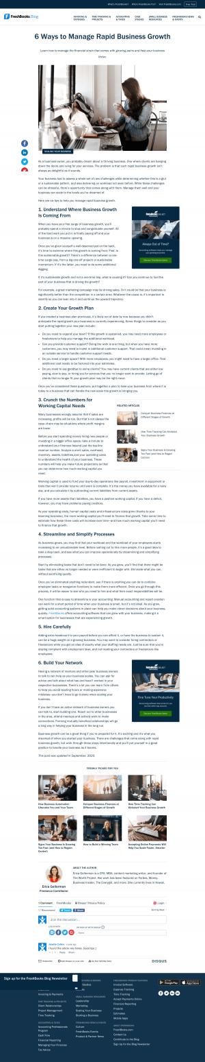 FreshBooks – Blog Article