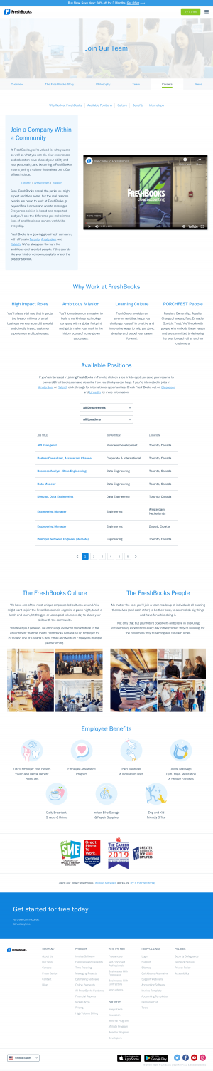 FreshBooks – Career page