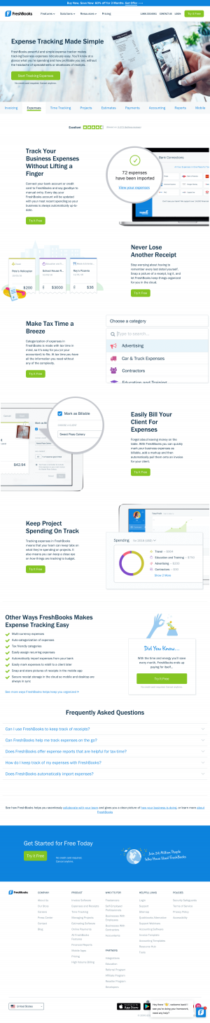 FreshBooks – Features page 2