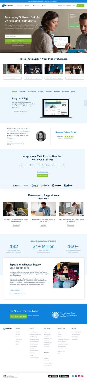 FreshBooks – Homepage