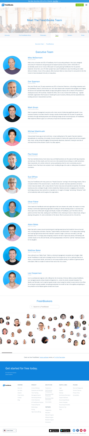 FreshBooks – Team page