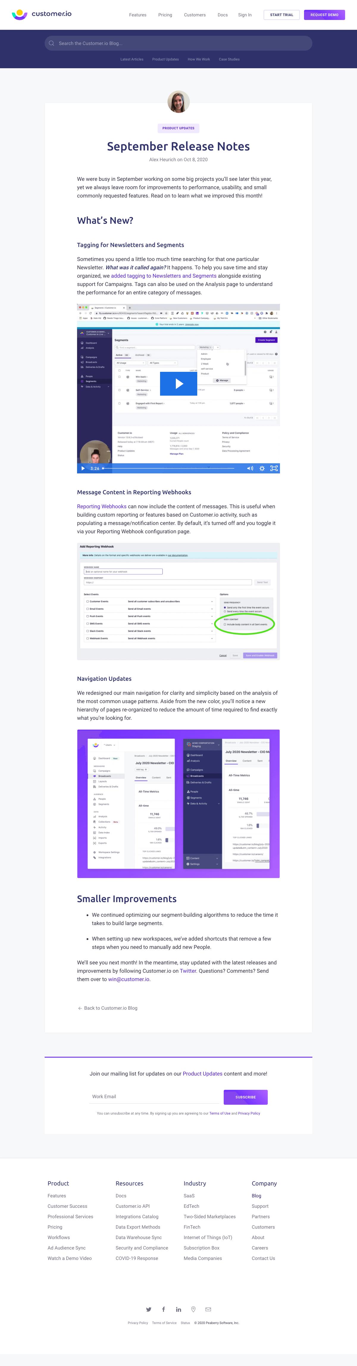 Customer.io – Blog Article