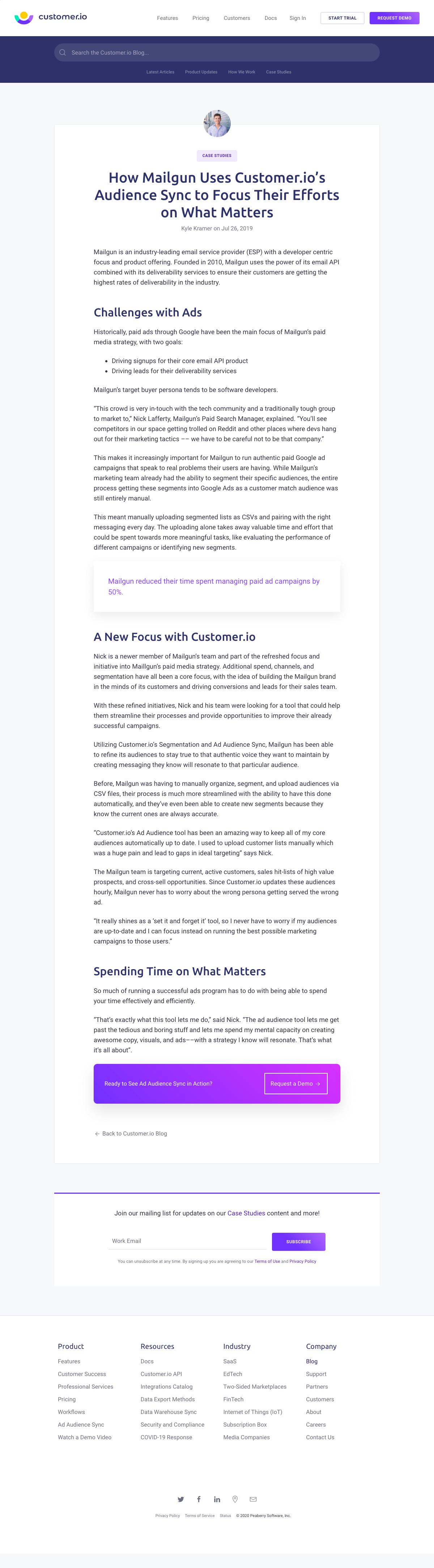 Customer.io – Customers page 2
