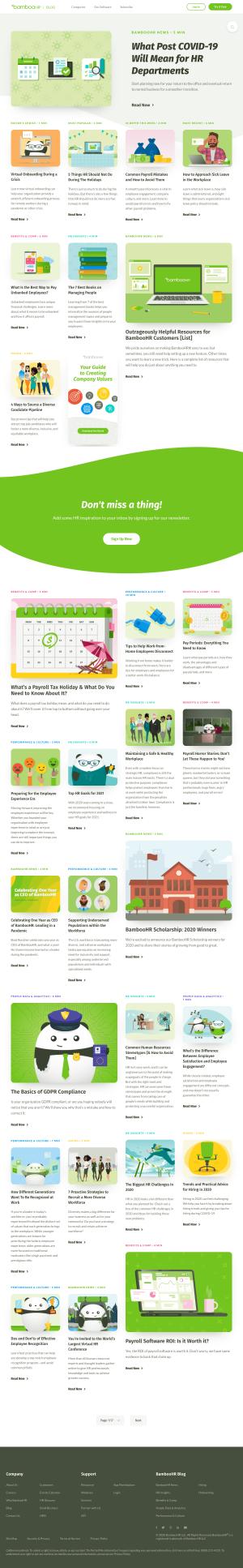 BambooHR – Blog Index