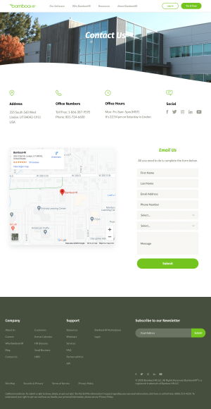 BambooHR – Contact page