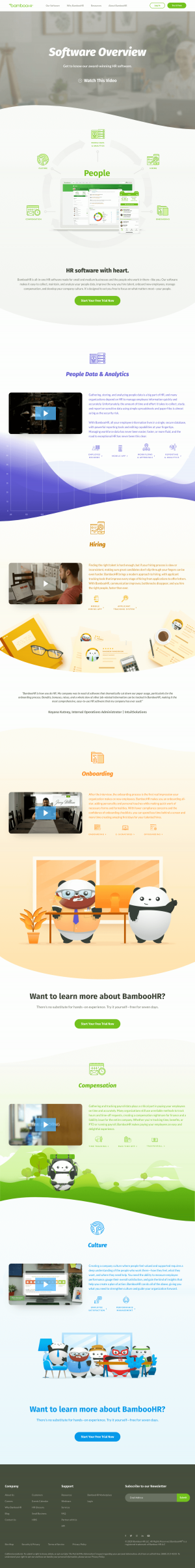 BambooHR – Features page