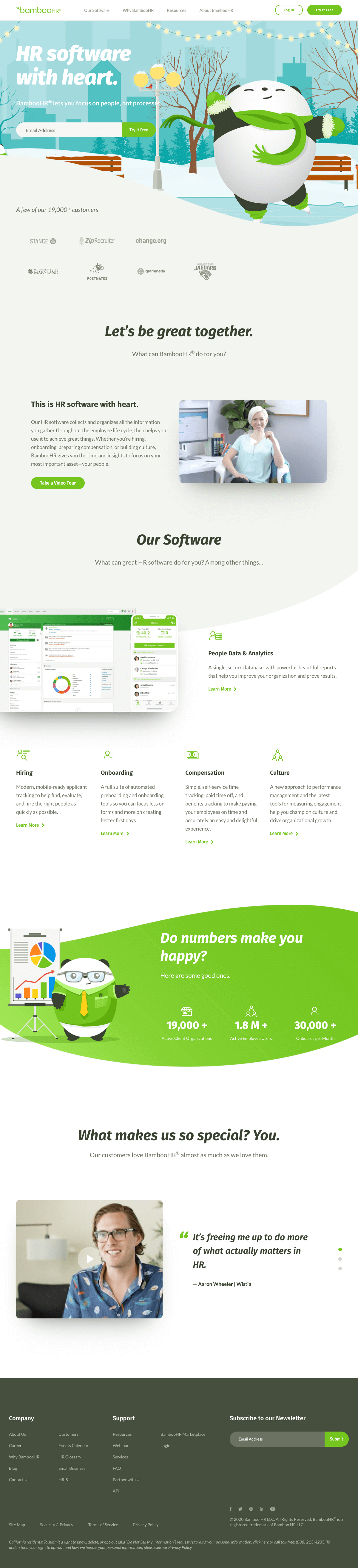 BambooHR – Homepage