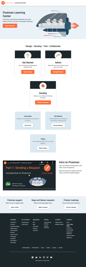 Postman – Resources page