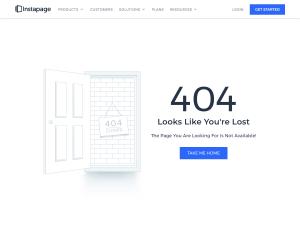 Instapage – 404 Error page