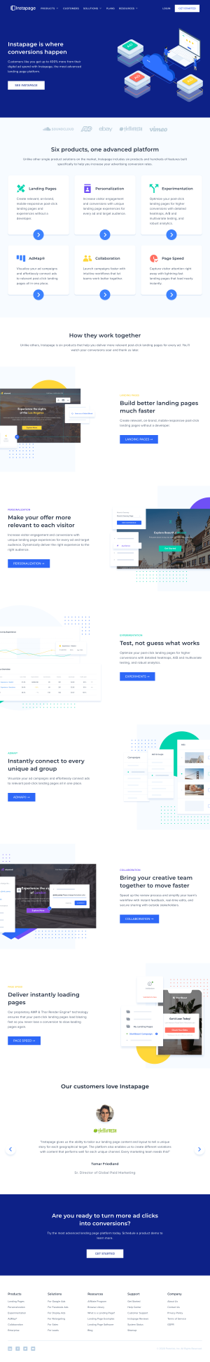 Instapage – Homepage